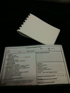 Notepad and prompt sheet