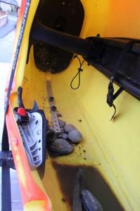 rocks in boat