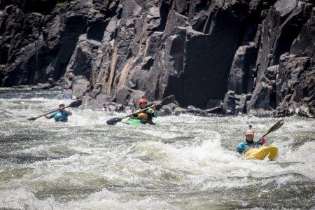 kayaking on the zambezi